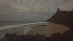 Aerial shot on Conceição beach, Fernando de Noronha, Brazil Stock Footage