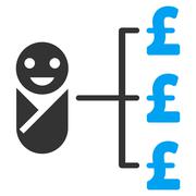 Baby Pound Expenses Flat Vector Icon Symbol - stock illustration
