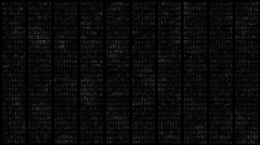 Decaying Binary Numbers Motion Background Alpha Matte Stock Footage