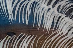 Stock Photo of Feather, hot batik, background texture, handmade on silk, abstract surrealism