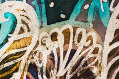 Stock Photo of Tree, hot batik, background texture, handmade on silk, abstract surrealism
