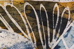 Abstraction, hot batik, background texture, handmade on silk - stock illustration