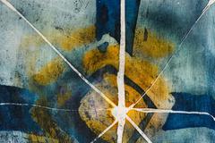 Stock Photo of Star, hot batik, background texture, handmade on silk, abstract surrealism