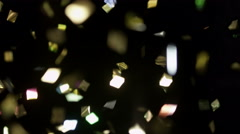 Confetti Realistic Footage Overlay Stock Footage