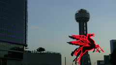 Pegasus Horse And Reunion Tower Dallas Stock Footage