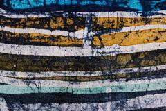 Stock Photo of Lines, hot batik, background texture, handmade on silk, abstract surrealism