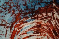 Stock Photo of Stripes, hot batik, background texture, handmade on silk, abstract surrealism