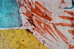 Stock Photo of Abstraction, hot batik, background texture, handmade on silk