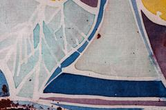 Stock Photo of Abstraction, hot batik, background texture, handmade on silk, surrealism art