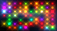 Colorful hypnotic flashing disco stage lights Stock Footage