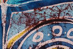 Abstraction, hot batik, background texture, handmade on silk, surrealism art - stock illustration