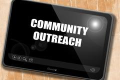 Community outreach sign - stock illustration