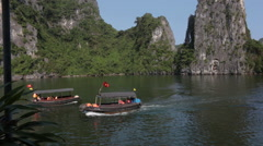 Ha Long Bay in Vietnam Stock Footage