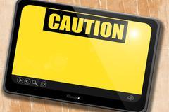 Empty warning sign - stock illustration
