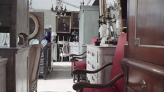 Antique shop Decor - lifestyle - stock footage