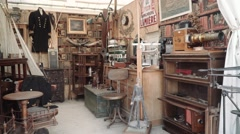 Antique shop Decor - lifestyle Stock Footage