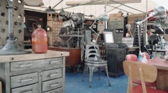 Antique shop Decor - lifestyle Industrial Stock Footage