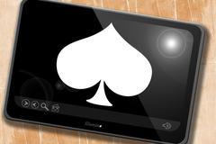 Spade card background Stock Illustration