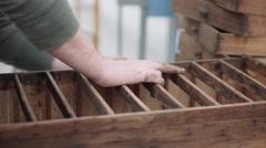 Handyman fixing Furniture Stock Footage