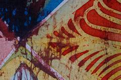Abstraction, hot batik, background texture, handmade on silk Stock Illustration