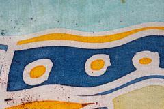 Stripe, handmade on silk, surrealism art Stripe, hot batik, background texture - stock illustration