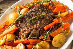 Homemade Slow Cooker Pot Roast Stock Photos