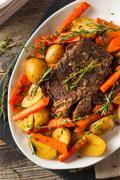 Homemade Slow Cooker Pot Roast - stock photo