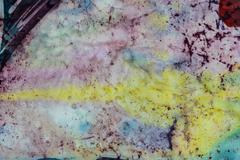 Abstraction, fragment, hot batik, background texture, handmade on silk Stock Illustration