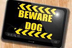 Beware of dog sign - stock illustration