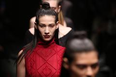 Meltem Ozbek Catwalk in Mercedes-Benz Fashion Week Istanbul - stock photo