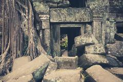 Temples of angkor wat, cambodia - stock photo