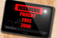 No parents allowed sign Stock Illustration