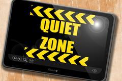 Quiet zone sign Stock Illustration