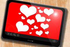 Hearts love background - stock illustration