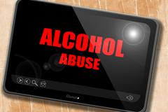 Alcohol abuse sign - stock illustration