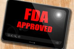 FDA approved background Stock Illustration