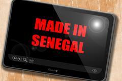Made in senegal - stock illustration