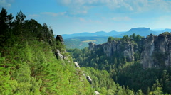Mountains in Saxon Germany Stock Footage