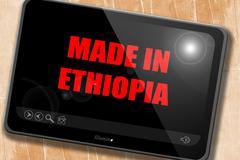 Made in ethiopia - stock illustration