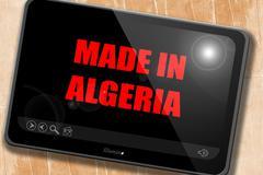 Made in algeria - stock illustration