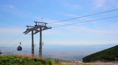 Modern cableway in Tatras mountains Arkistovideo