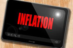 Inflation sign background Stock Illustration