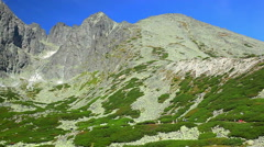 Tatras mountains  and cableway in Slovakia Stock Footage