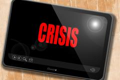 Crisis sign background Stock Illustration