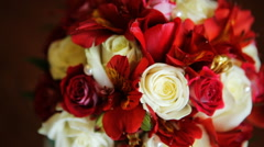 1. Amazing bouquet of incredible beauty made of pink, red and white roses Stock Footage