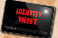 Identity theft fraud background - stock illustration