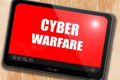 Cyber warfare background Stock Illustration