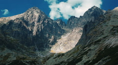High Tatras mountains in Slovakia Stock Footage