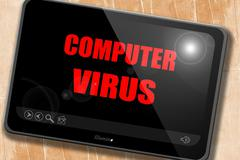 Virus removal background - stock illustration