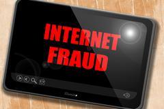 Internet fraud background Stock Illustration